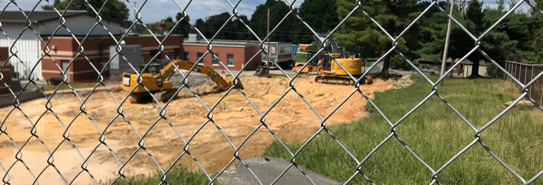 Pic:  picture of construction site for new school addition